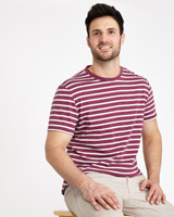 plum Paul Costelloe Living Marl Stripe T-Shirt