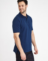 denim Paul Costelloe Living Indigo Ribbed Polo Shirt