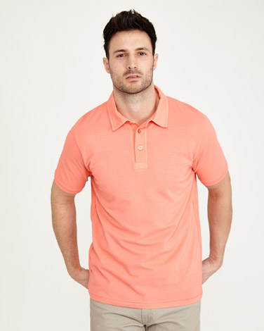 Paul Costelloe Living Garment Dyed Polo Shirt