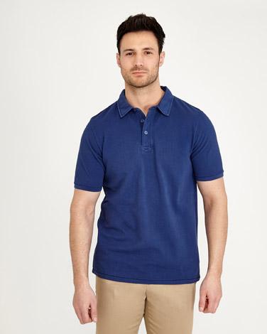 denimPaul Costelloe Living Garment Dyed Polo Shirt