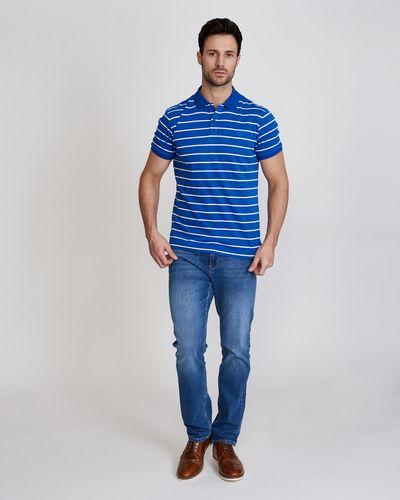 Paul Costelloe Living Slim Fit Stripe Pima Polo