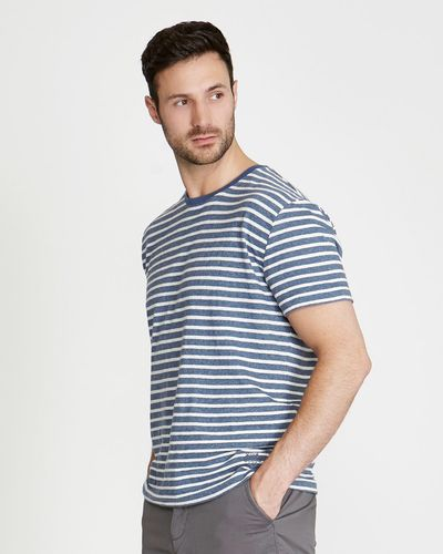 Paul Costelloe Living Linen Blend Stripe T-Shirt