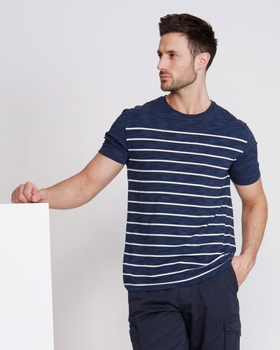 Paul Costelloe Living Space Dye Engineer Stripe T-Shirt