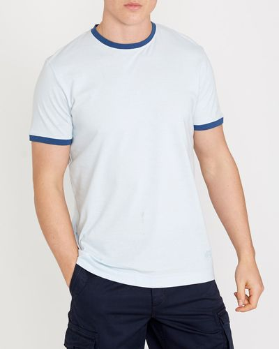 Paul Costelloe Living Ribbed Contrast Collar T-Shirt