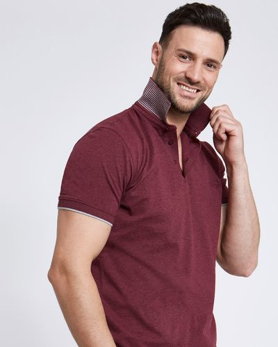 Paul Costelloe Living Slim-Fit Wine Stretch Pique Polo