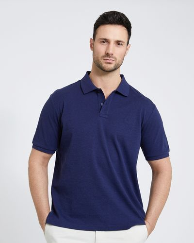 Paul Costelloe Living Navy Pima Mercerised Polo
