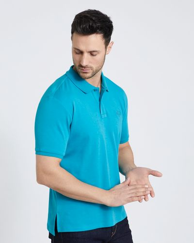 Paul Costelloe Living Teal Pima Mercerised Polo