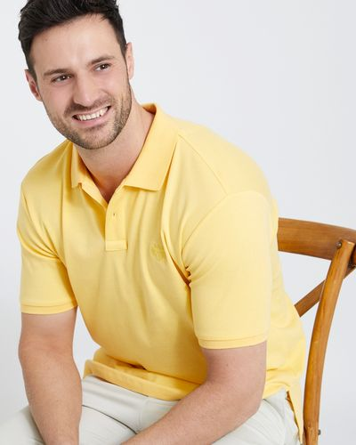 Paul Costelloe Living Yellow Pima Mercerised Polo