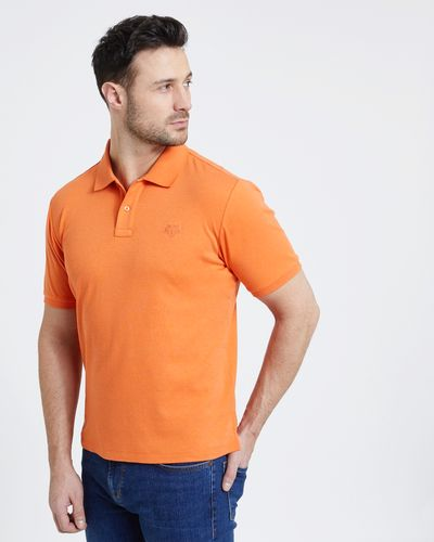 Paul Costelloe Living Orange Pima Polo
