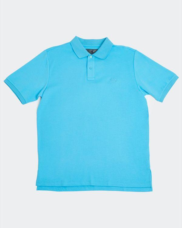 Paul Costelloe Living Turquoise Pima Polo