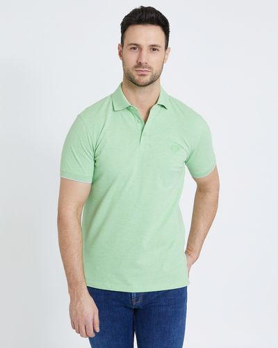 Paul Costelloe Living Green Stretch Pique Polo