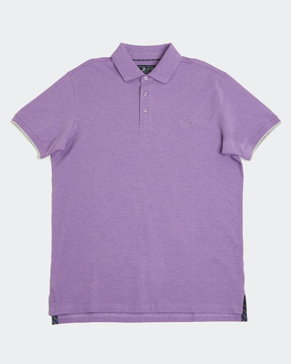 Paul Costelloe Living Purple Stretch Pique Polo