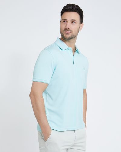Paul Costelloe Living Turquoise Modal Pique Polo