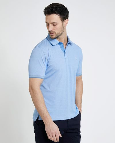 Paul Costelloe Living Blue Modal Pique Polo Shirt