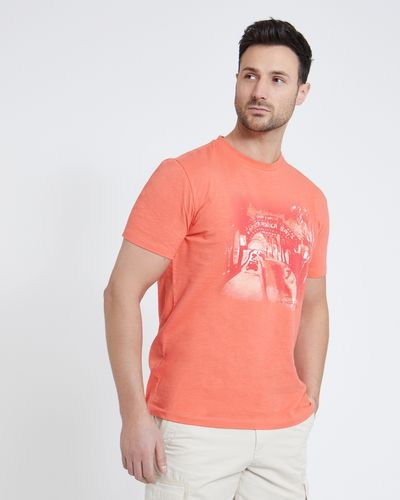 Paul Costelloe Living Coral Printed Slub T-Shirt