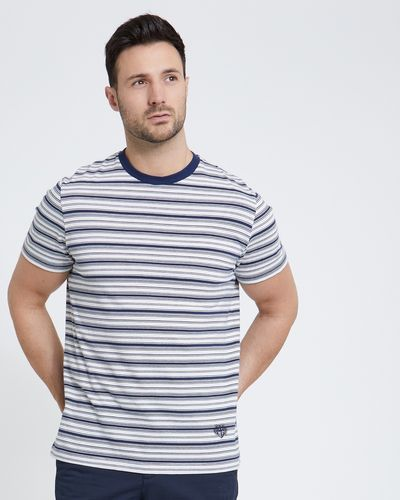 Paul Costelloe Living Stripe Crew Neck T-Shirt