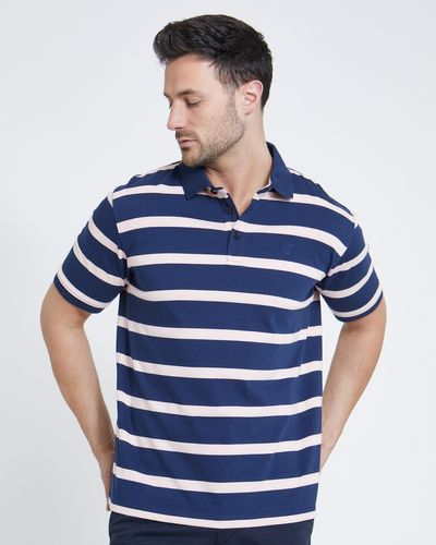 Paul Costelloe Living Navy Melange Stripe Polo