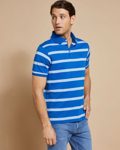 Paul Costelloe Living Blue Melange Stripe Polo