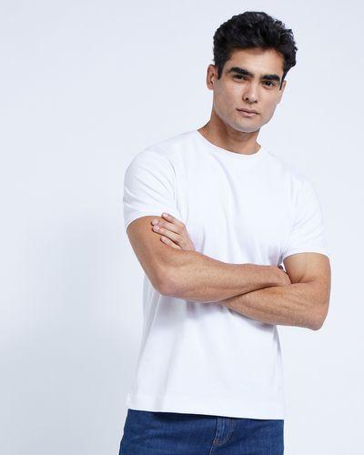 Paul Costelloe Living White Mercerised T-Shirt