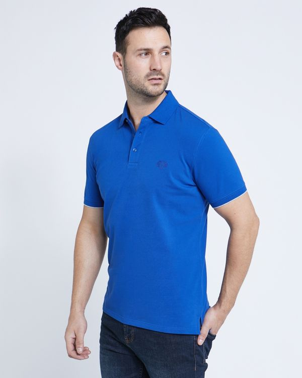 Paul Costelloe Living Blue Stretch Polo