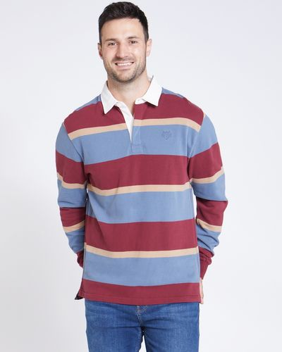 Paul Costelloe Living Wine Stripe Rugby Shirt