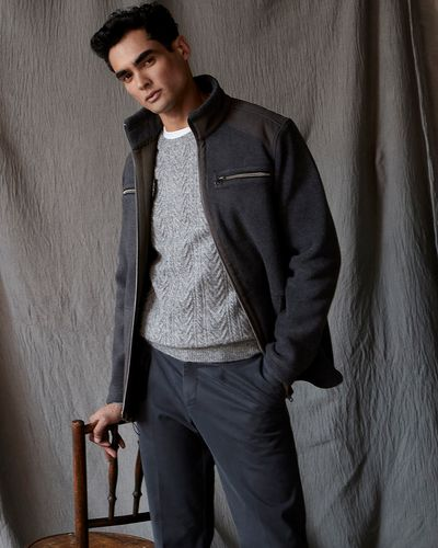 Paul Costelloe Living Charcoal Fleece Jacket
