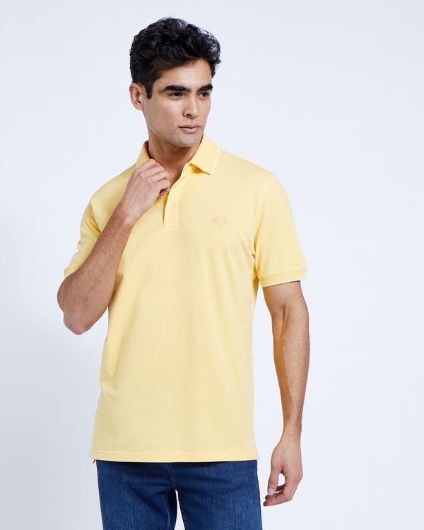 Paul Costelloe Living Yellow Stretch Pique Polo