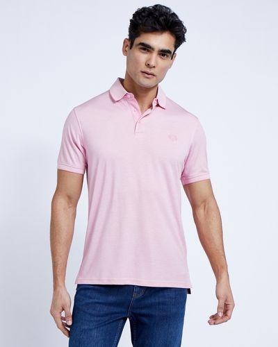 Paul Costelloe Living Pink Modal Pique Polo thumbnail