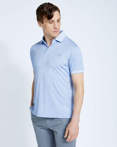 Paul Costelloe Living Blue Modal Pique Polo