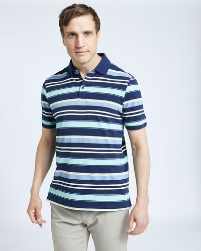 Paul Costelloe Living Navy Grindle Stripe Polo