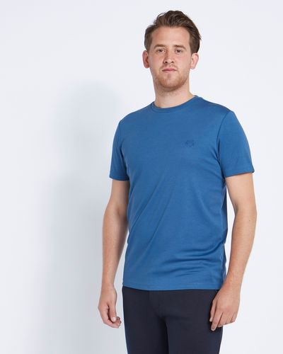 Paul Costelloe Living Blue Modal Crew T-Shirt