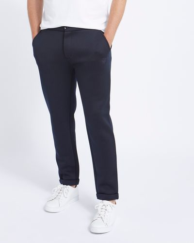 Paul Costelloe Living Navy Double Faced Jogger