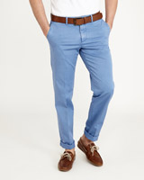 blue Paul Costelloe Living Stretch Lightweight Chinos