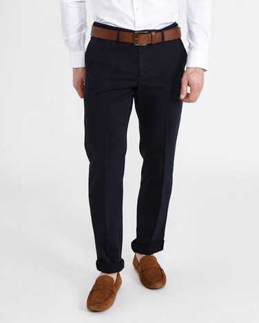 navyPaul Costelloe Living Textured Stretch Trousers