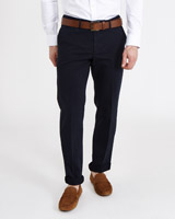 navy Paul Costelloe Living Textured Stretch Trousers