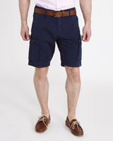 navy Paul Costelloe Living Cargo Shorts