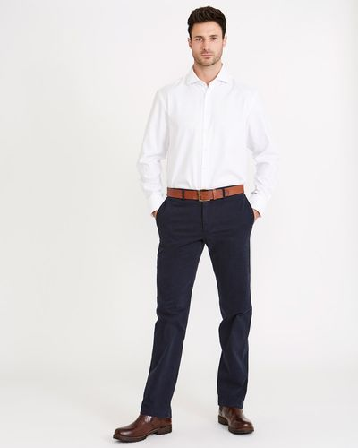 Paul Costelloe Living Garment Dyed Straight Fit Trouser thumbnail