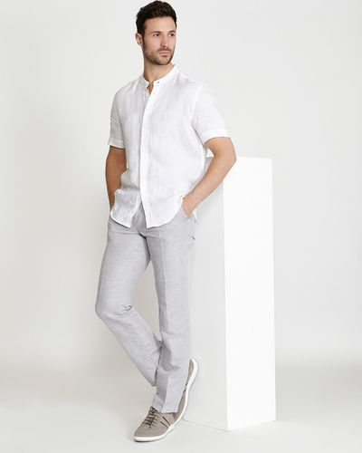 Paul Costelloe Living Linen Mix Trousers (Made in Spain)
