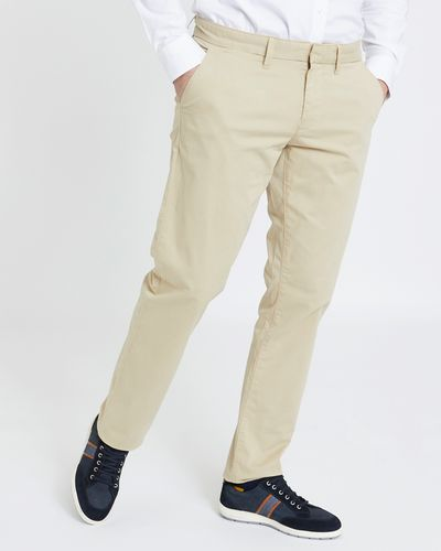 Paul Costelloe Living Tan Fashion Tailored Fit Chinos