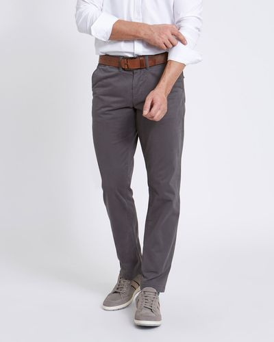 Paul Costelloe Living Grey Fashion Tailored Fit Chinos