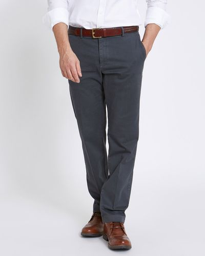 Paul Costelloe Living Straight Fit Stretch Textured Trousers