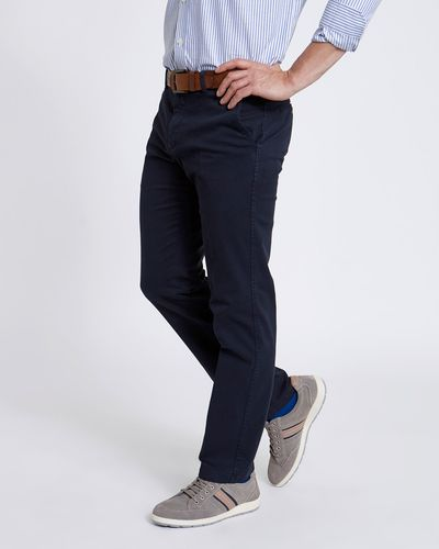 Paul Costelloe Living Navy Stretch Chino