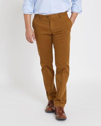 Paul Costelloe Living Tan Moleskin Trousers