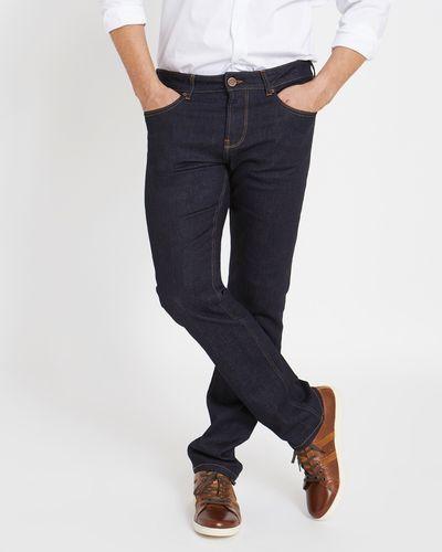 Paul Costelloe Living Straight Fit Dark Wash Denim Jeans
