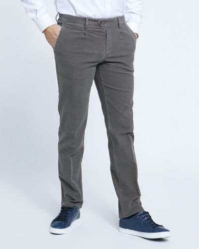 Paul Costelloe Living Straight Fit Textured Print Trousers