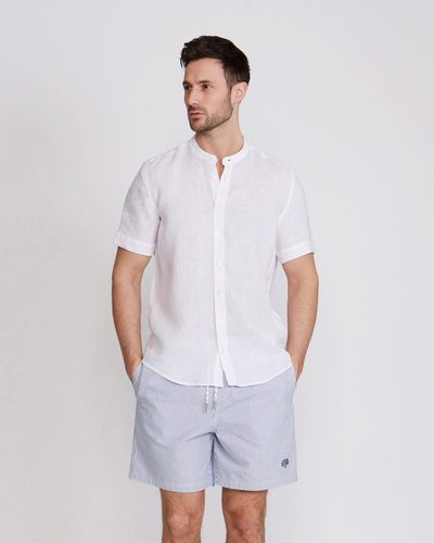 Paul Costelloe Living Seersucker Swim Shorts