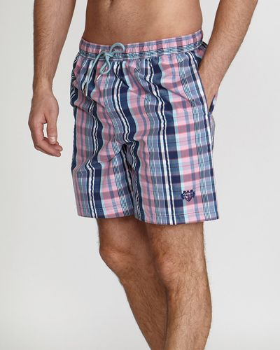 Paul Costelloe Living Check Swim Shorts
