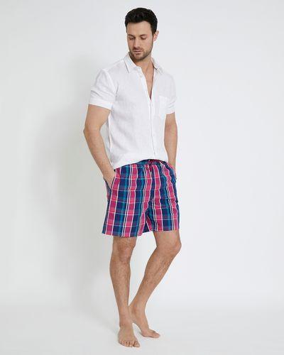 Paul Costelloe Living Seersucker Check Swim Shorts