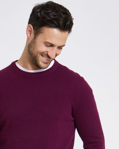 Paul Costelloe Living Wine Cashmere Crew Neck Jumper thumbnail