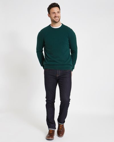 Paul Costelloe Living Green Cashmere Crew Neck Jumper